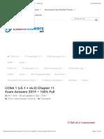 CCNA 1 (v5.1 + v6.0) Chapter 11 Exam Answers 2019 - 100% Full
