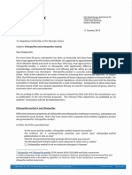 Lettre de Corteva aux autorités régulatrices des Etats membres de l'UE 11.10.2019