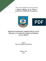 Manual de Instalación,configuración de Adds y GPO  en Server 2012r2
