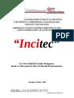 Normativa de la Revista INCITEC
