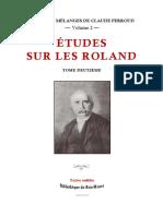 Études sur les Roland, tome 2 / par Claude Perroud ; réunies et mises en ordre par Georges Fénoglio Le Goff
