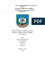 Manual de Instalacion e Configuracion de ADDS, DNS Y DHCP