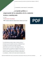 Los Vínculos Con El Poder Político y Empresarial de Los Miembros de La Comisión Técnica Constituyente – CIPER Chile