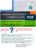 (1). Introduction to Metal – Ferrous Alloy