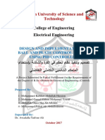 design and Implementation of Ball and Plate Control System Using Pid Controller