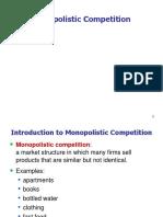 3. Monopolistic Comppetition