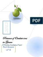 122741790 Presence of Oxalate Ions in Guava Chemistry Investigatory Project