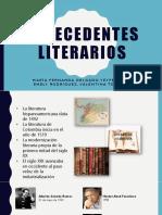 Antecedentes Literarios Mafe 2