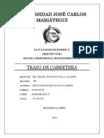 TRAZO DE CARRETERA BIEN ELABORADO NOTA 15