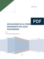 Aplicaciones de la teoria del movimiento de agua subterranea