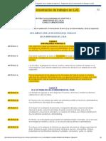 Reglamento para la presentacion de trabajos luz