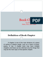Book Chapter Ppt