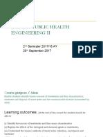 Ece 2313 Public Health Engineering II
