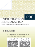 3.4 Infiltration and Percolation
