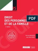 L1 - Droit Des Personnes Et de La Famille (Corrigé)