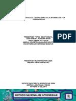 Evidencia 1 Articulo Tecnologias de La Informacion y La Comunicacion ULTIMO