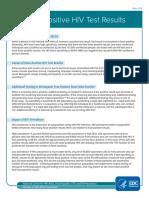 Cdc Hiv Factsheet False Positive Test Results
