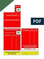 Tarjetas de Rotulado e Inspeccion de Andamios