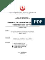 AUTOMATIZACION PARA ELABORACION DE CERVEZA