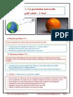 Chapitre 1 La Gravitation Universelle Cours Activités Exercices d'Application TCS BIOF Pr JENKAL RACHID