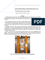 STATIC AND FATIGUE STRUCTURAL TESTS FOR EADS-CASA