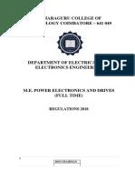 M.E Power Electronics and Drives Semester I to Semester IV R 18