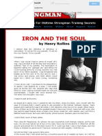 Iron and the Soul by Henry Rollins