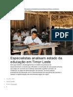 HomeSociedadeEducaçãoEspecialistas Analisam Estado Da Educação Em Timor