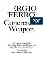 Concrete as Weapon - Sergio Ferro