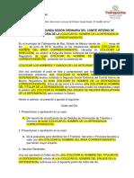 Modelo de Acta COMITES INTERNOS MEJORA REGULATORIA