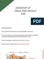 Anatomy of External and Middle Ear Drpushkar