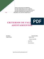 Criterios de Fallas