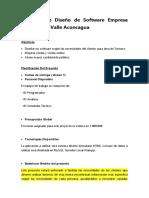 Proyecto de Diseño de Software Empresa Turistica Valle Aconcagua