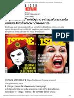 O _jornalismo_ Misógino e Chapa Branca Da Revista IstoÉ Ataca Novamente - Socialista Morena