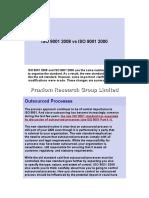 ISO 9001 2008 vs ISO 9001 2001