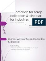 Automation for Scrap Collection & Disposal for Machine