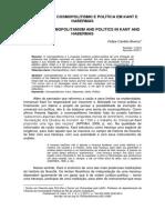 Notas Sobre Cosmopolitismo e Política Em Kant e Habermas