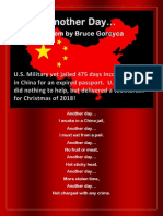 Another Day - A Poem By Bruce Gorcyca - U.S. Military Vet Jailed 475 Days In China With No Help From U.S. Embassy