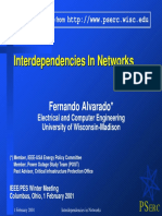 Lecture - Interdepencies in Networks - Alvarado and Al - 2001