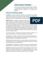 CONTRACCIONES UTERINAS - MATERNO