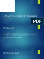 Abusive Conduct and Plagiarism NXTLearning