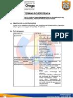 TERMINOS DE REFERENCIA AREA DE ESTUDIO