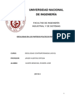 Ideologias en Los Partidos Politicos Peruanos