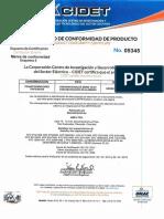 Certificado de conformidad