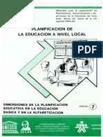 Unidad 01 Dimensiones Planificacion Educativa