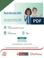 Videoconferencia Bono Escuela 2019
