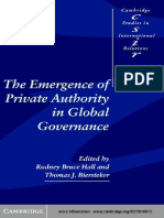 (Cambridge Studies in International Relations) Rodney Bruce Hall, Thomas J. Biersteker, Eds. - The Emergence of Private Authority in Global Governance-Cambridge University Press (2003)