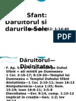 DUHUL SFÂNT - DIVINITATEA PERSOANA ȘI DARURILE SALE