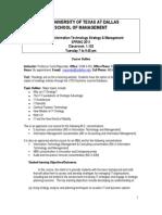UT Dallas Syllabus for mis6302.501.11s taught by Sumit Majumdar (skm021100)