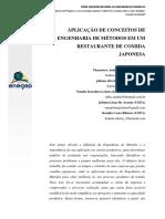 APLICAÇÃO DE CONCEITOS DE ENGENHARIA DE MÉTODOS EM UM RESTAURANTE DE COMIDA JAPONESA